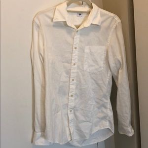 Super soft white Uniqlo button down